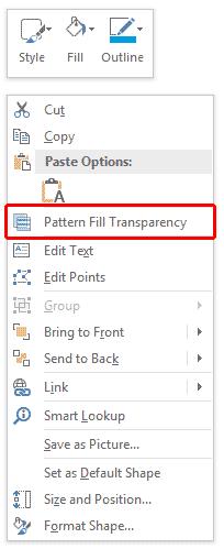 Pattern Fill Transparency